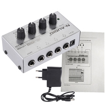 HA400 Ultra-compact 4 Channels Mini Audio Stereo Headphone Amplifier with Power Adapter(China)