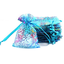 50pcs/lot Organza Candy Box Wedding Gift for Guests Jewelry Bag Pouch Bags Wedding Favors and Gifts Box Event Party Supplies(China)