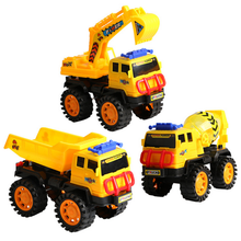 1 Pc Educational Toys for Children Engineering Car Plastic Model Puzzle Large Beach Excavator Creative Baby Kids Fun Game Gifts(China)