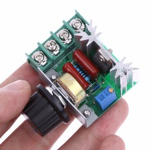 AC 220V 2000W SCR Electronic Voltage Regulator Speed Controller Dimmer Thermostat FULI
