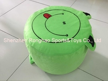 Cartoon Style Plush Villus Inflatable Stools Pouf Chair Seat Bedroom Lovely Frog Stool Ottomans(China)