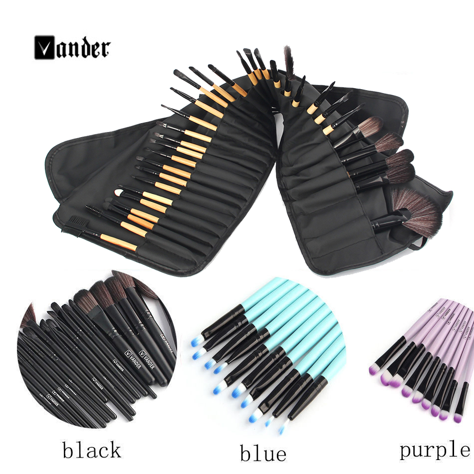 VANDER 32 pcs Makeup Brush Set Synthetic Professional Makeup Brushes Foundation Powder Blush Eyeliner Brushes pincel maquiagem(China (Mainland))
