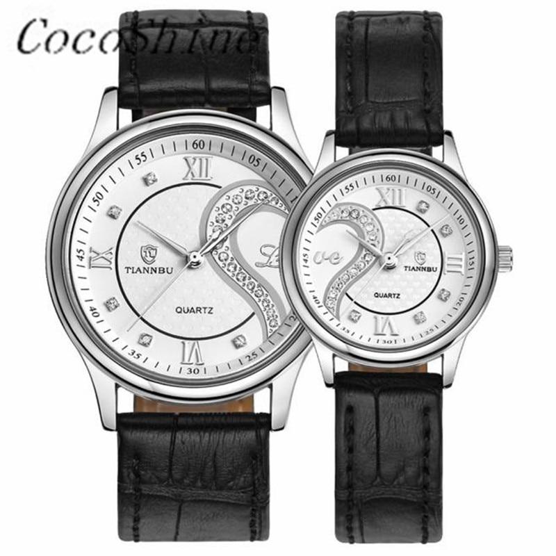 CocoShine D-868 1 Pair/2pc New Fashion Men Women Tiannbu High-Quality Ultrathin Leather Romantic Fashion Couple Wrist Watches<br><br>Aliexpress