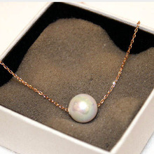Simple Simulated Pearl Necklace Women Bijoux 2017 New Jewelry wholesale love gift Summer hot selling gold-color short design