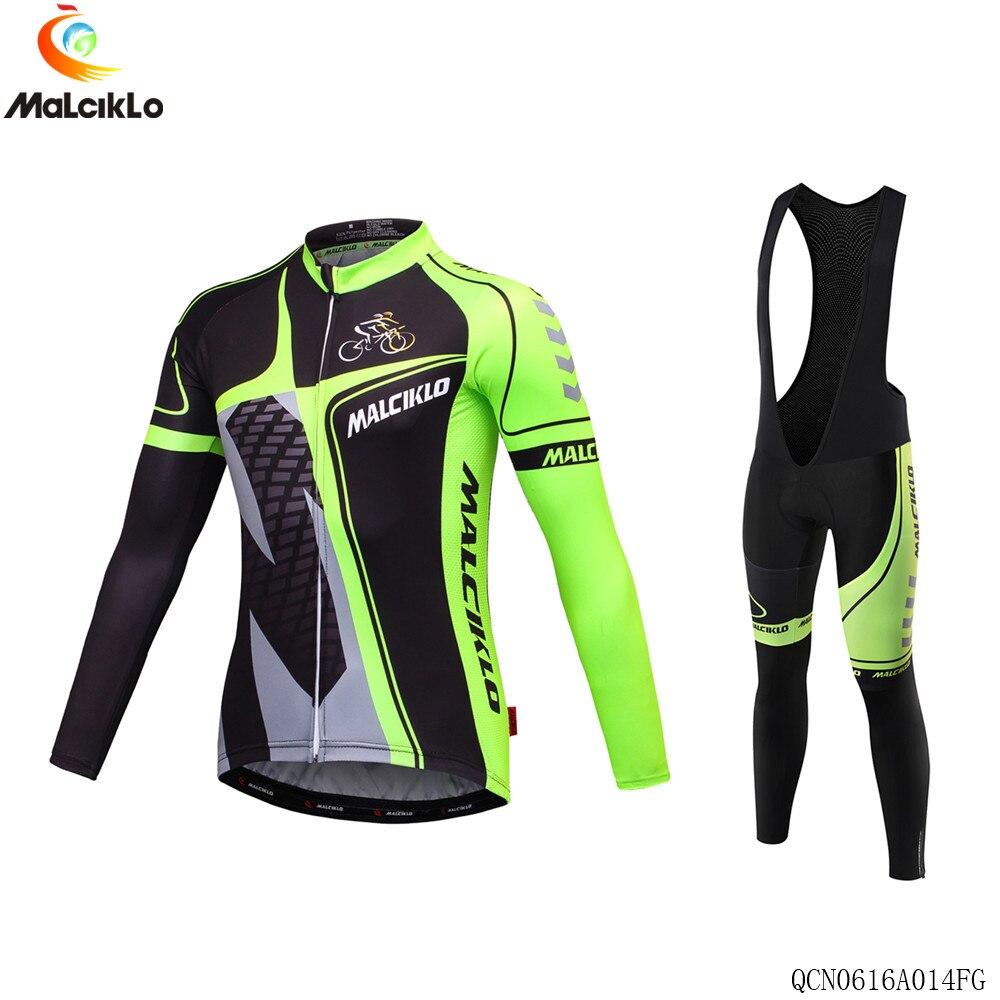 2017 Malciklo Brand Cycling Suit Jerseys Newest Pro Fabric Wear Long Set Bike Clothing Pants MTB Bike Maillot Ropa Cycling Set<br>