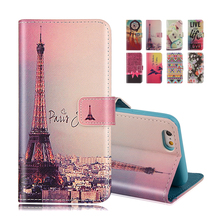 For iphone SE Case Wallet Style Flip Case with Eiffel Cute Print For iphone 5 5S 5G Stand PU Leather Cell Phone Protective Cover
