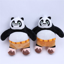 Movie Kung Fu Panda Plush Toys Cute Kungfu Panda Stuffed Dolls Cool Baby Kids Friends Gift 20cm