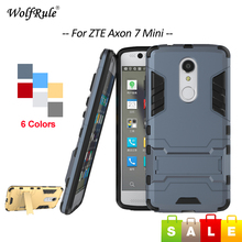 WolfRule Case Zte Axon 7 Mini Cover 5.2 inch Soft Silicone & Plastic Shockproof Phone Holder Case For ZTE Axon 7 Mini Case < [(China)