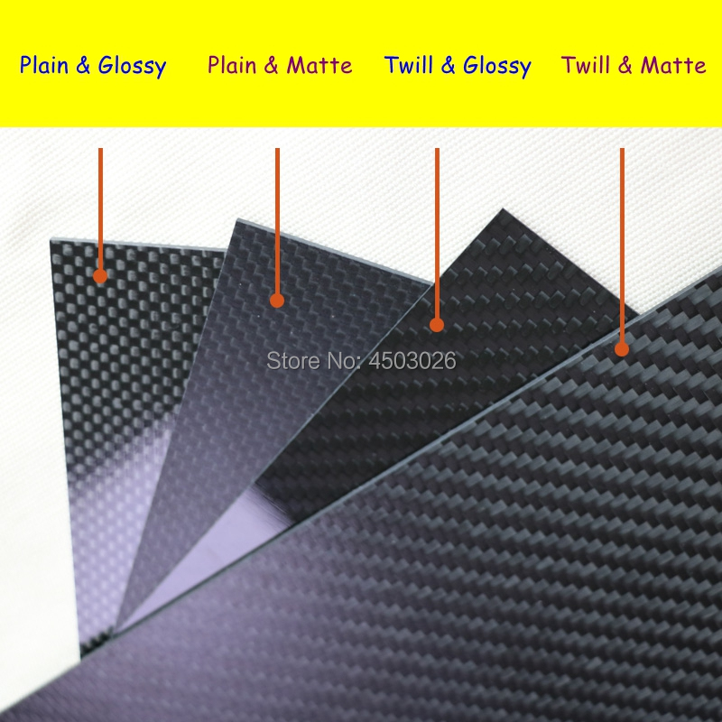 3K Full Carbon Fiber Sheet Plate 0.5mm-50mm Thickness for RC Drones & Industrial & Scientific Use (Twill, Matte SurfacePlain Weave,Glossy Surface)-5