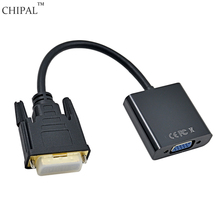 CHIPAL Full HD 1080P DVI-D 24+1 to VGA 15Pin HDTV Converter Male to Female Adapter Monitor Cable for PC Computer Display Card
