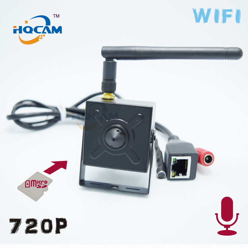 HQCAM TF SD card wireless 720P wifi P2P Mini IP Camera Security Cam wi-fi Indoor CCTV TF SD card camera External microphone<br>