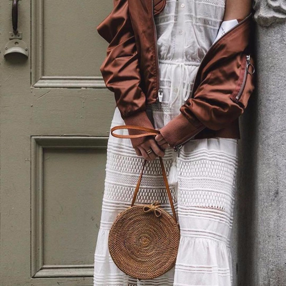 ZHIERNA Bali Island Rattan bag Small Handmade Straw Bag Popular Beach Bag for Women Crossbody Ata Handbag <br>