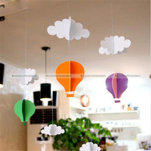 1Set Clouds Ballon DIY Felt Ornaments Party Home Decoration Garland Streamer 43916419 SMB