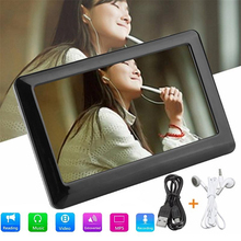 Gizcam Portable 8GB 4.3 Inches Touch HD LCD screen MP4 MP3 MP5 Media Player Video FM Radio Fast Speed Gift Support 32G TF card(China)