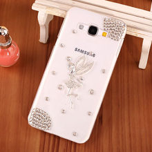 Luxury Cute Diamond Smart Phone Case Shell For Samsung J3 2016 Bling Ballet Girl Style Cell Phone Case For Samsung Galaxy J3 Pro