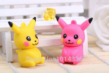 Hot sale cartoon Pikachu Animal Cartoon Real capacity 8GB 4GB 2GB usb flash drive pen Disk Stick Drives Sticks Pen drives S239