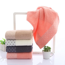 Dots Towel Sets Romantic Adults Thickening Bath Towels  Cotton Water Absorption Face Towels