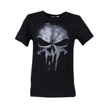 Cool Style THE PUNISHER Skull T Shirt The Punisher Black Short Sleeve T-shirt Men Clothing Top Tees For Summer(China)