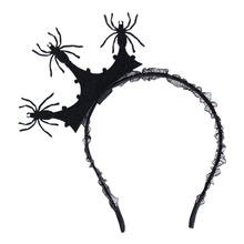 Black Crown Spider Fascinator Hair Hoop Headband Headwear for Halloween Masquerade Ball Party Fancy Dress Party spider(China)