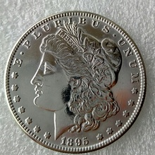 New Style 90% Silver 1895-O Morgan Dollar DEEP MIRROR PROOF LIKE FINISH Copy Coin(China)