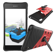 For Sony Xperia E5 F3311 F3313 Phone Case Shock proof 360 swivel bracket Phone shell Netted heat dissipation Armor Phone Cover