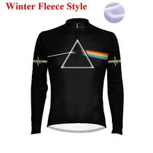 Dark night Moon  ropa ciclismo maillot pro winter clothes cycling biking long sleeve shirts bicycle fleece  jersey for men 2017