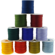 15 Color 1MM 100Yards/roll Satin Rattail Nylon Cords/String Kumihimo Macrame Rope Chinese Knot Cord DIY Jewelry Findings(China)
