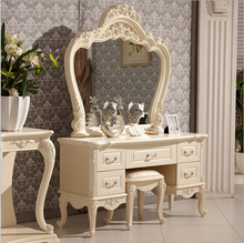 Ivory white bedroom dresser antique rubber wood dresser 0409-A822