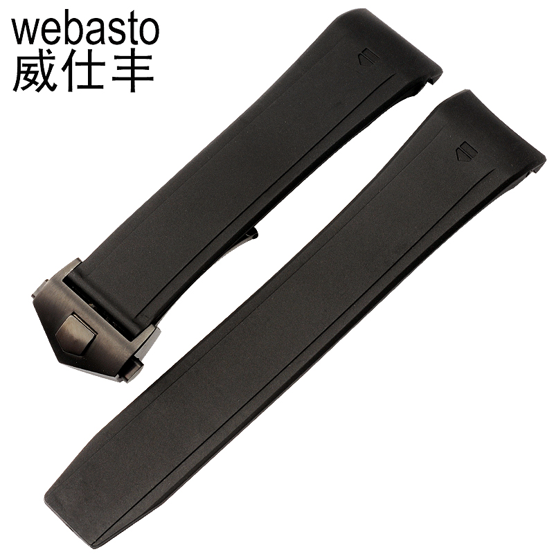Webasto Men Watch Band For TAG Heuer F1 Rubber Straps Width 22mm Buckle Watch Strap Watchbands Free Shipping<br>