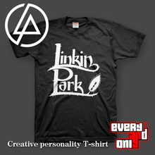Linkin park Alternative metal rap rock Band leaf style casual Cotton t-shirt tee t