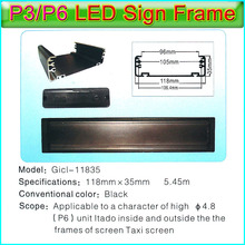 Gicl-11835 P6 LED Display LED Sign Frame,Applicable to P3 P6 led panel,Dedicated to Bus,taxi,car etc automotive display screen(China)