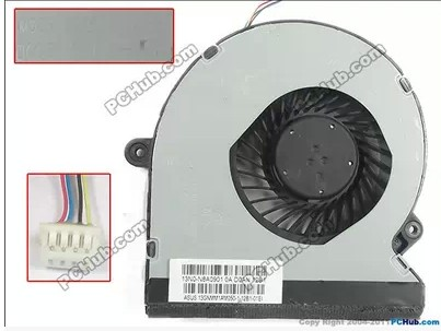 DELTA KSB06105HB, -CE1A DC 5V 0.40A 4-wire 4-pin connector 40mm Server Baer Cooling fan<br>