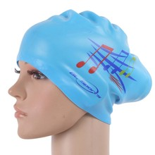 YUKE Silicone Waterproof Women Swimming Cap Swim for Long Hair Hat Cover Ear Bone Pool swim caps(China)