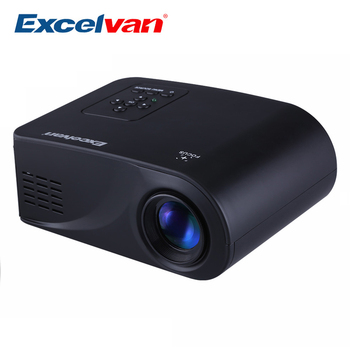 Excelvan X6 Mini Projector 480*320 Resolution Support 1080P 120Lumens With HDMI / USB / AV / VGA / SD Interface Home Theater