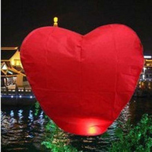 Free Shipping 25pcs/lot heart Sky Lanterns, Wishing Lamp SKY CHINESE LANTERNS BIRTHDAY WEDDING PARTY(China)