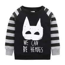 2017 Promotion New Arrival T-shirt Boy Batman Baby Long Sleeved Shirt Brand 100% Cotton Girl Full Set Of Coat Free Shipping