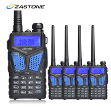 4pcs/lot Zastone ZT-V10 Two Way Radio 136-174/400-520MHz Dual Band Handheld FM Transceiver Radio Walkie Talkie