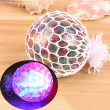 Funny Glowing Squishy Grape Squeeze Ball Mesh Stress Relief Toy for Kids Adult(China)