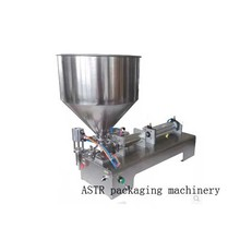 single nozzle  Paste filling machine small hopper Rotary Valve range 50-500ml quantitative filling and packaging equipment