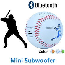 Baseball Bluetooth Speaker Mini Subwoofer built in 600mAh battery support TF card download and playing Line-in audio player