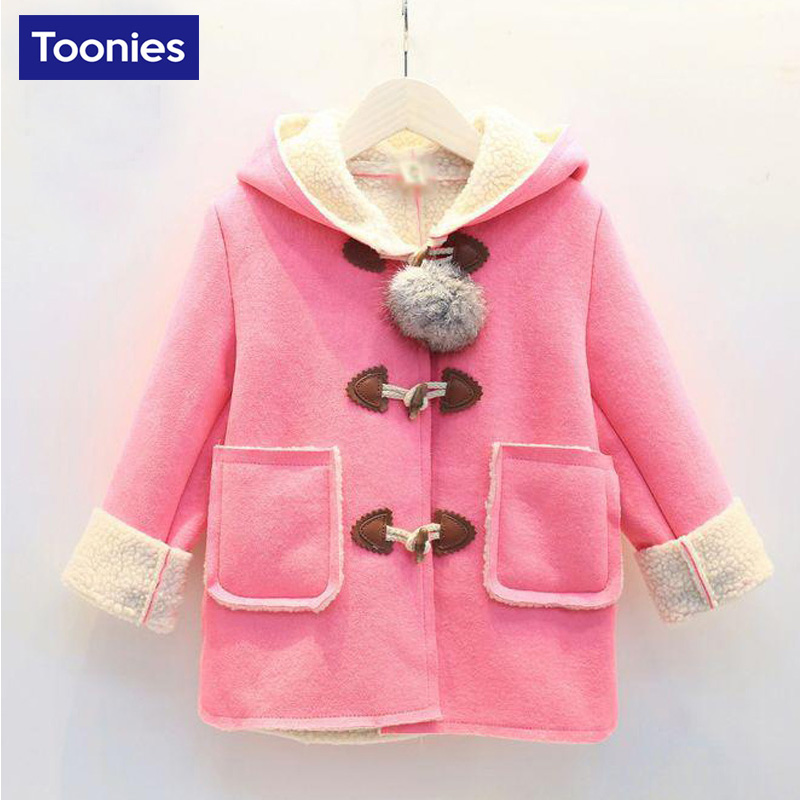 Jacket Coat for Girls Cashmere Childrens Girl Clothing 2017 Winter New Fashion Kawaii Cute Hooded Jackets Suit Thick Warm CoatsОдежда и ак�е��уары<br><br><br>Aliexpress