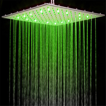 led ceiling shower head 16 inches stainless steel led light shower head
