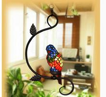 Tiffany Single and Double Novelty Bird Pendant Child Bedroom Parrot Lamps for Balcony Home Decoration AC E27 100% Guaranteed
