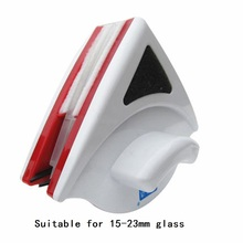 Double-sided Glass Cleaner Brush Magnetic Window Cleaner for 15-23mm Window Glass Easy to Clean Wiper