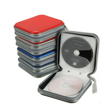 Portable 40pcs DVD VCD CD Disc Bag Organizer Carry Hard Case Holder Storage Box Bag