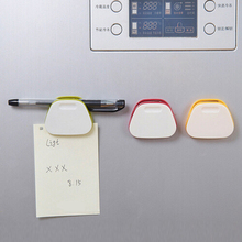 Brand New 3Pcs Color Magnetic Clip Fridge Magnet Wall Memo Note Message Holder Home Decor Magnets Stickers Best Price