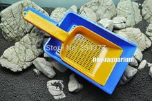 Aquarium gravel scooper sand clean maintenance tools water flow leakage with gap