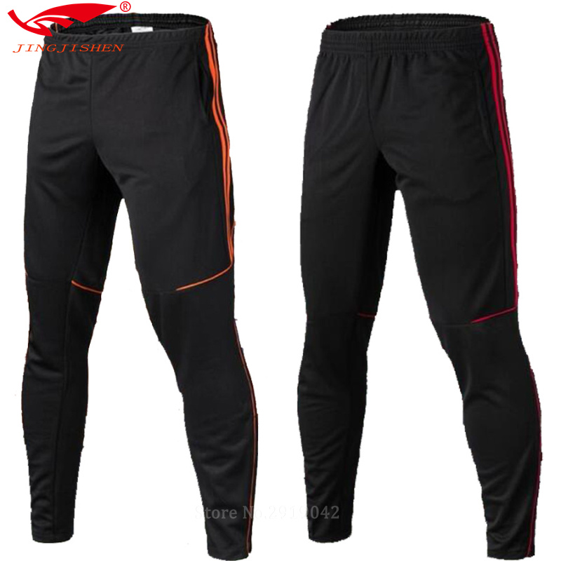 mens soccer jerseys 2016 2017 survetement football training suit soccer pants maillot football sweat pants running skinny legs(China (Mainland))