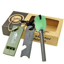 Outdoor Survive Multifunctional Magnesium Flint Camping Fire Starter Fluorescence Firestone With Whistle