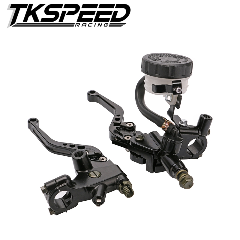 1 Pair 7/8 Universal Motorcycle Brake Levers Clutch Master Cylinder Reservoir Kit Black New Styling<br>